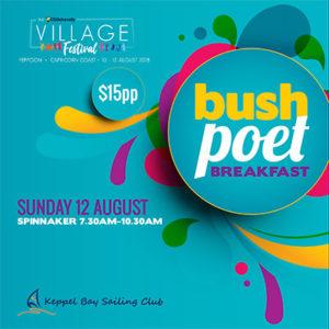 Village Festival Sunday bush poet breakfast